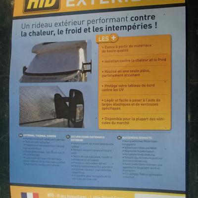 Rideau isotherme extérieur pour C.Car DUCATO Ap 2006
